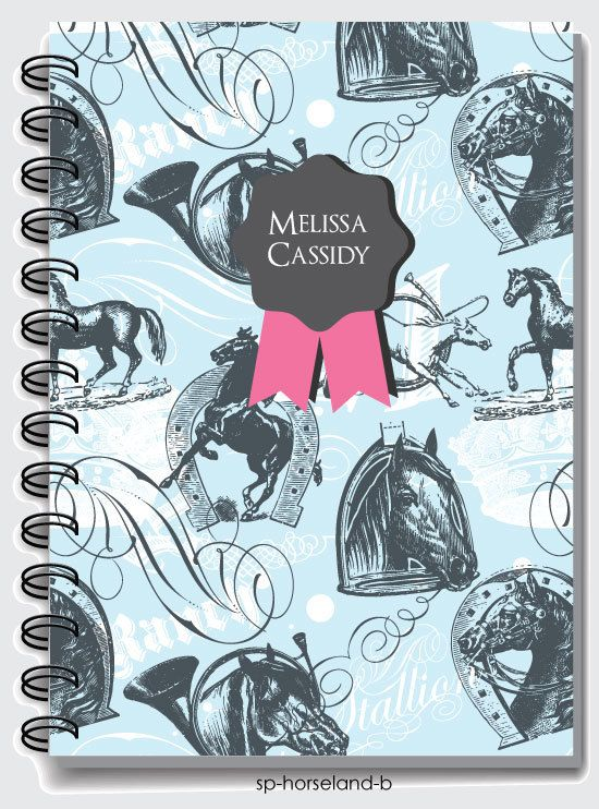 Personalized Notebooks Horse Pattern,spiral notebook,blank book,spiral bound,school notebook,cute journal,custom notebook,custom journal #horsepattern