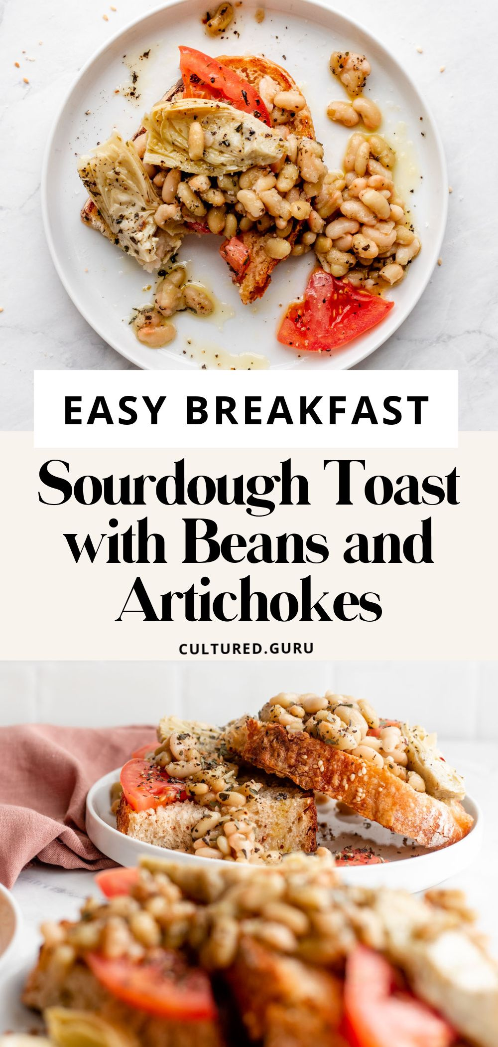 Easy Sourdough Breakfast Toasts With Beans And Artichokes Recipe In 2021 Healthy Breakfast Recipes Easy Healthy Breakfast Recipes Healthy Vegan Breakfast