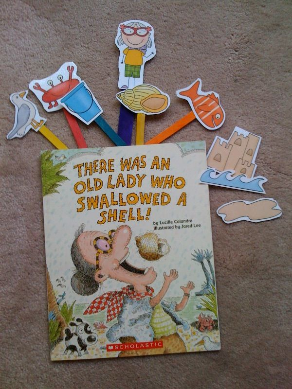 Preschool Printables: Old Lady Who Swallowed A Shell