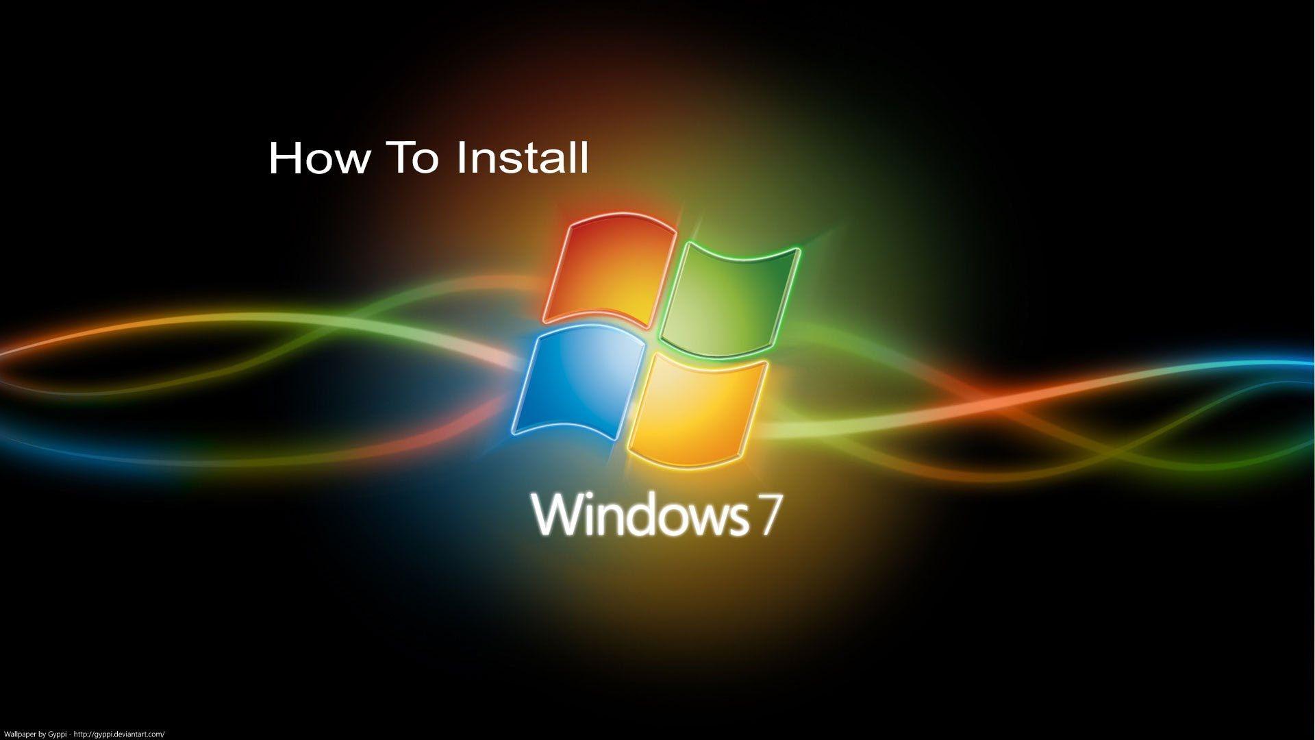 How To Install Windows 7 In Your Desktop And Laptops Windows Wallpaper Backgrounds Desktop Windows