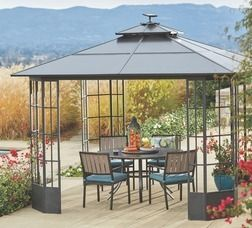 Madison Place Hard Top Aluminum Gazebo From Orchard Supply Hardware