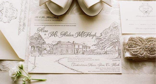 Tankardstown House Wedding Invitation by Appleberry Press Wedding - best of wedding invitation samples text