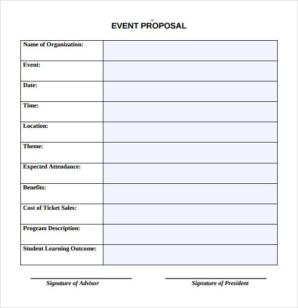 Sample Event. Event Proposal Template Word Sample Event Proposal