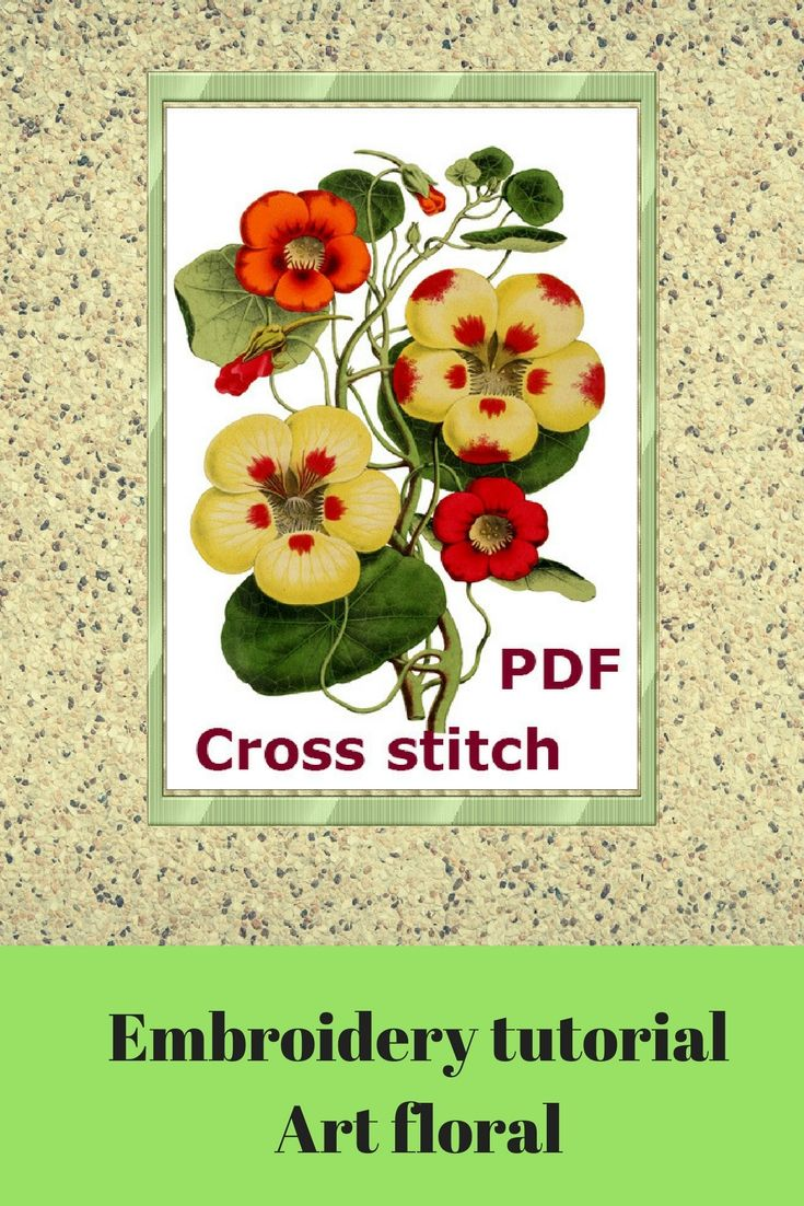 Flower cross stitch pattern pdf hand embroidered garden modern cross