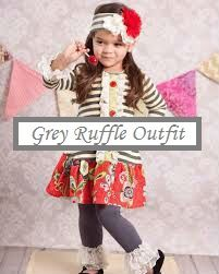 Preorder Gray Floral Boutique Outfit