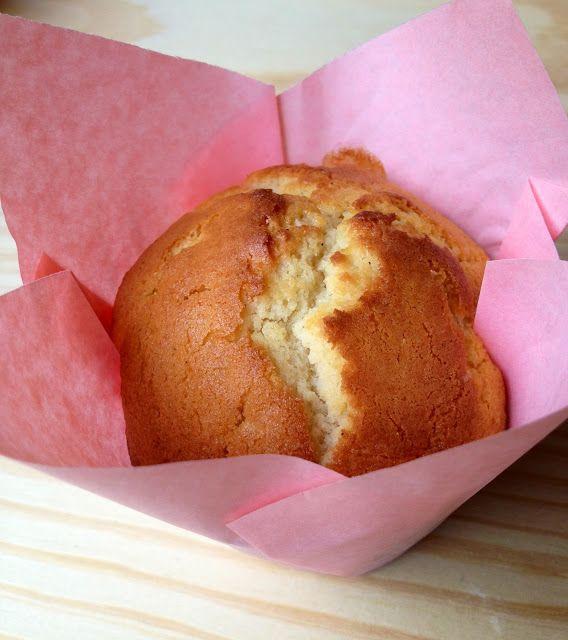 Muffins chocolate blanco y arándanos