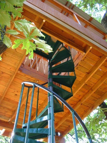 6 Ways To Make Your Tree House Safer Salter Spiral Stair Staircase Pictures Spiral Staircase Spiral Staircase For Sale