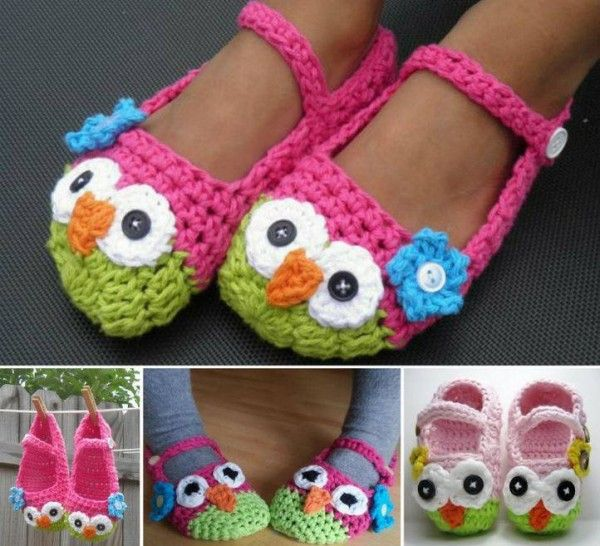 How-to-DIY-Crochet-Mary-Jane-Owl-Slippers-Shoes-Free-Pattern   Věci ...