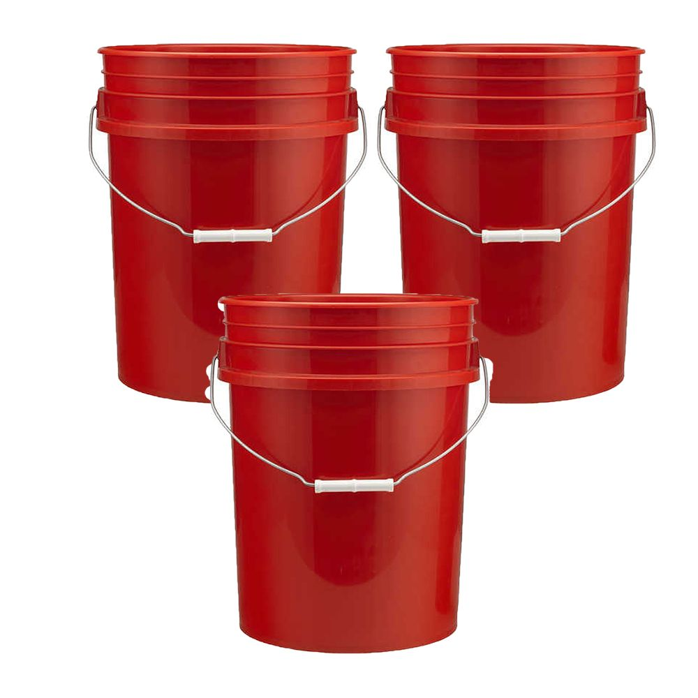 5 Gallon Plastic Bucket Red 3 Pack Object Lessons Bible Object Lessons Plastic Buckets