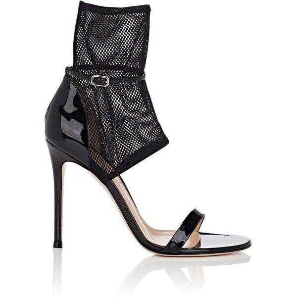 Gianvito Rossi Jordan Patent & Mesh 105mm Sandal