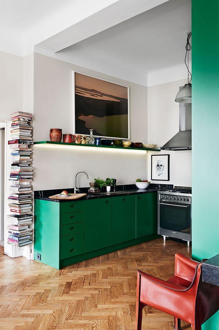 """Photo of De keuken werd groen, gebaseerd op de foto van Brendan Austin. """"Ik was r …"""