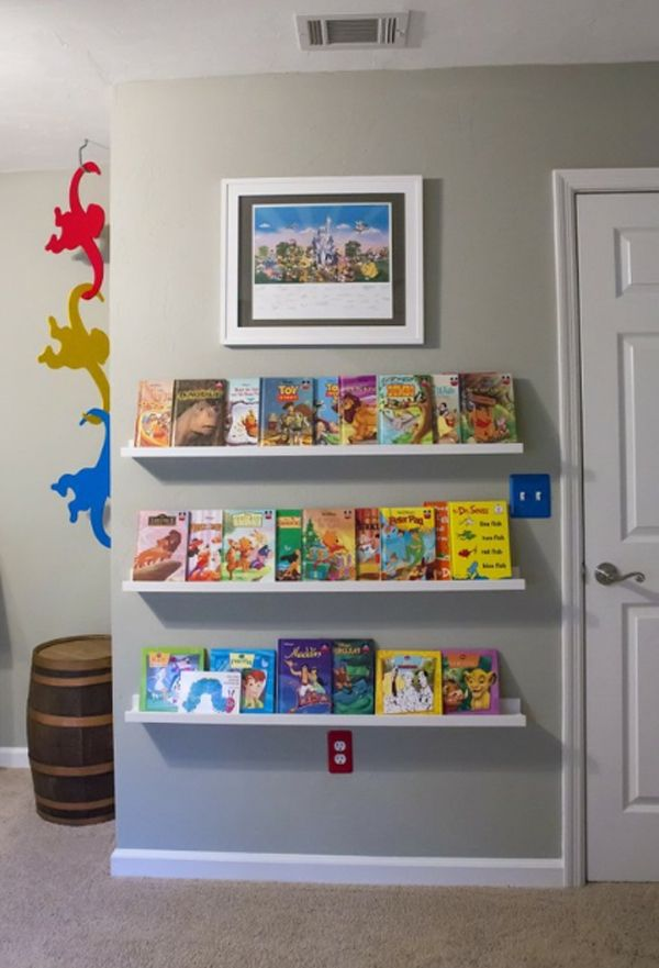 Kids Bookshelves Design With Storage System