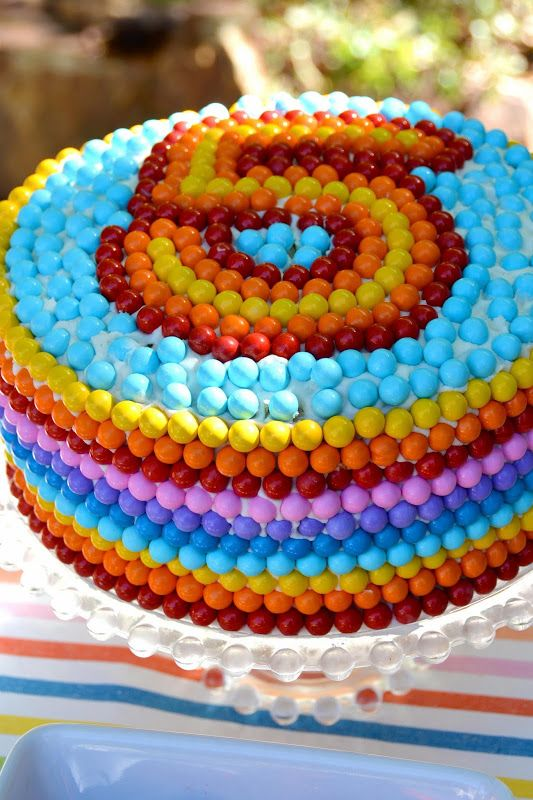 Cooking Rainbow Number Birthday Cake