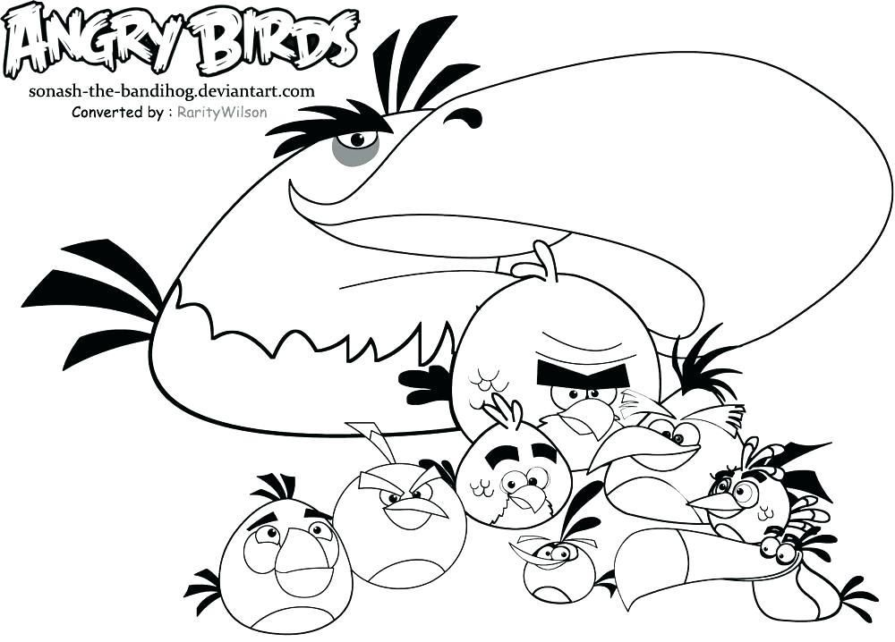 Tweety Bird Coloring Pages Pdf Bird Coloring Pages Angry Birds