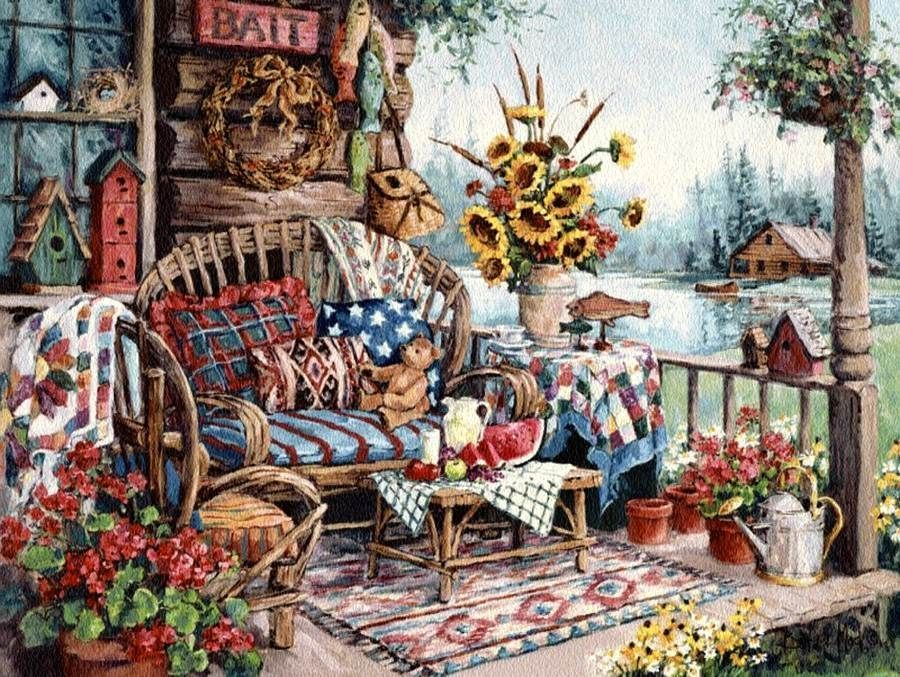 Image result for country porch | collectables | Pinterest