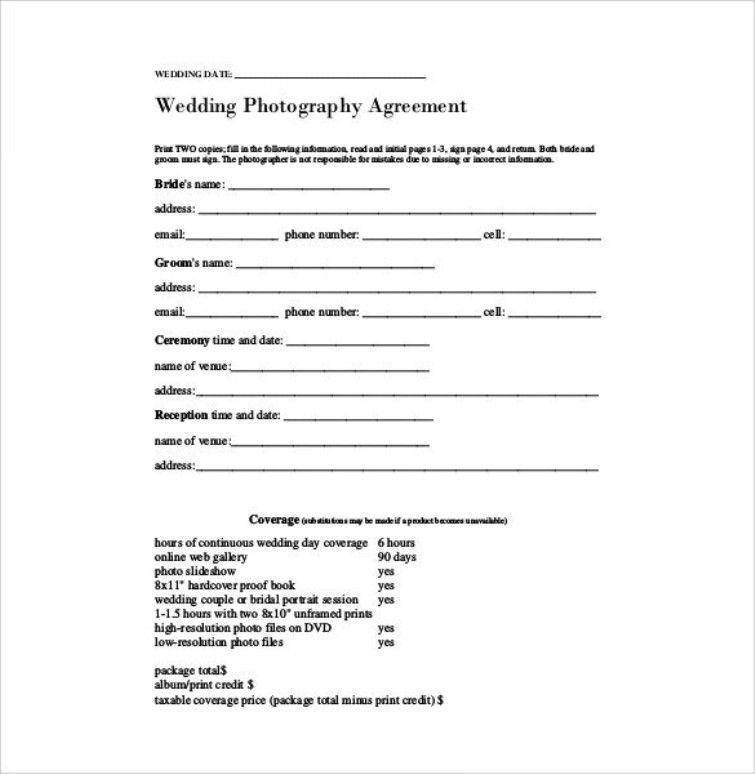 Wedding Photography Contract Pdf Check More At Https Nationalgriefawa Wedding Photography Contract Template Wedding Photography Contract Photography Contract