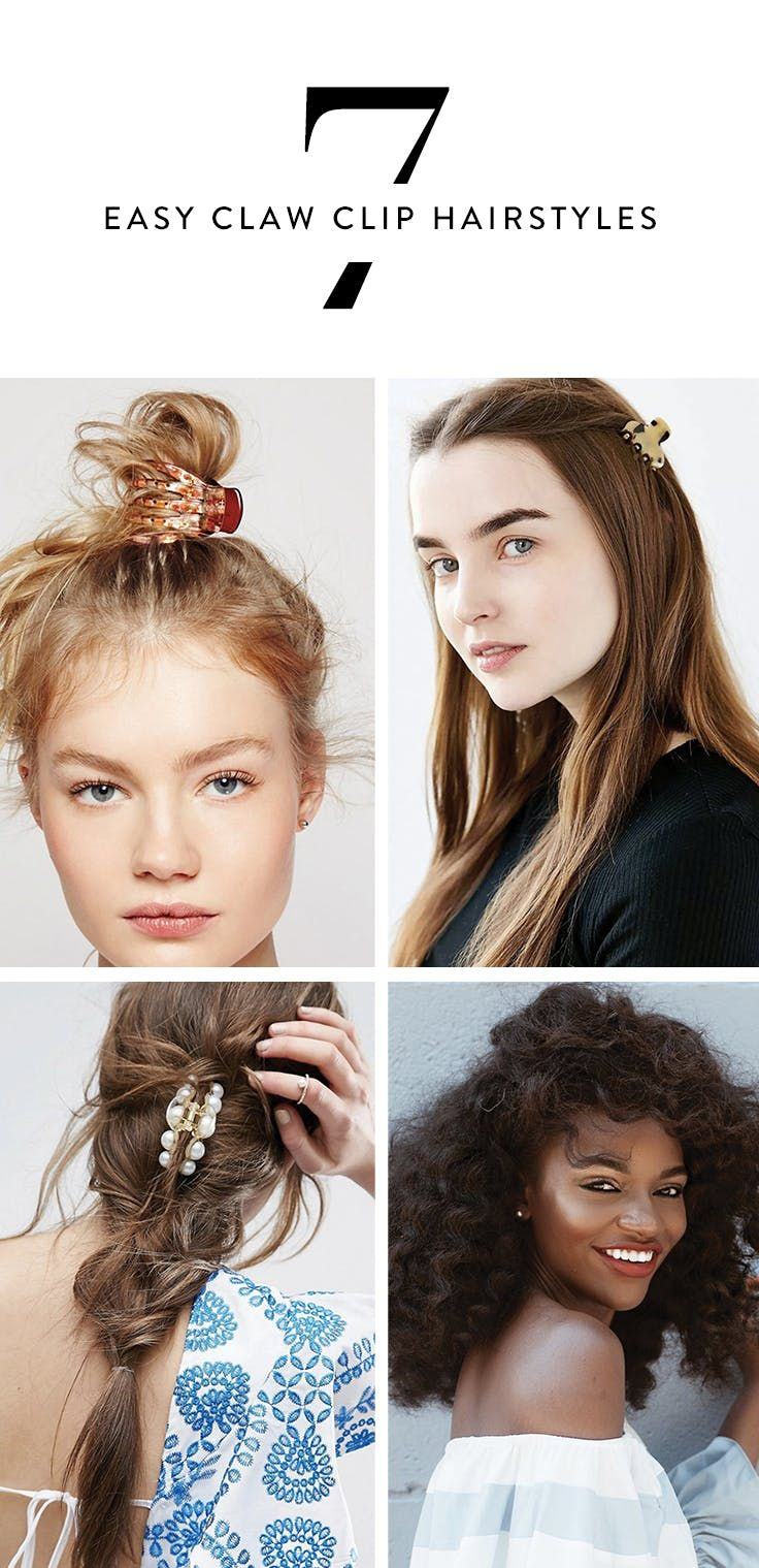 7 easy hairstyles you can do with a claw clip clip