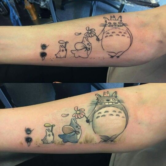 my totoro tattoo tattoos pinterest totoro tattoo and tatoo. Black Bedroom Furniture Sets. Home Design Ideas
