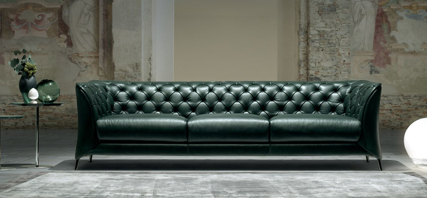 A modern interpretation of a classic Chester sofa, La