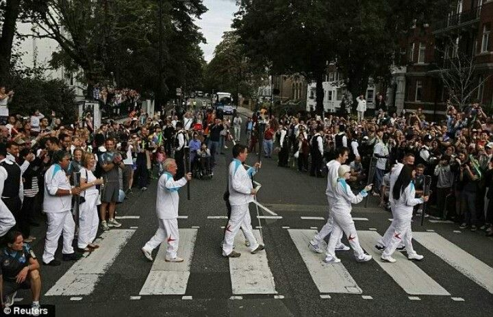 Special Olympics , crossing Abbey Road