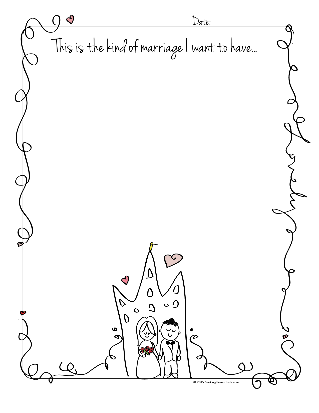 This Is The Type Of Marriage I Want Worksheet For Church
