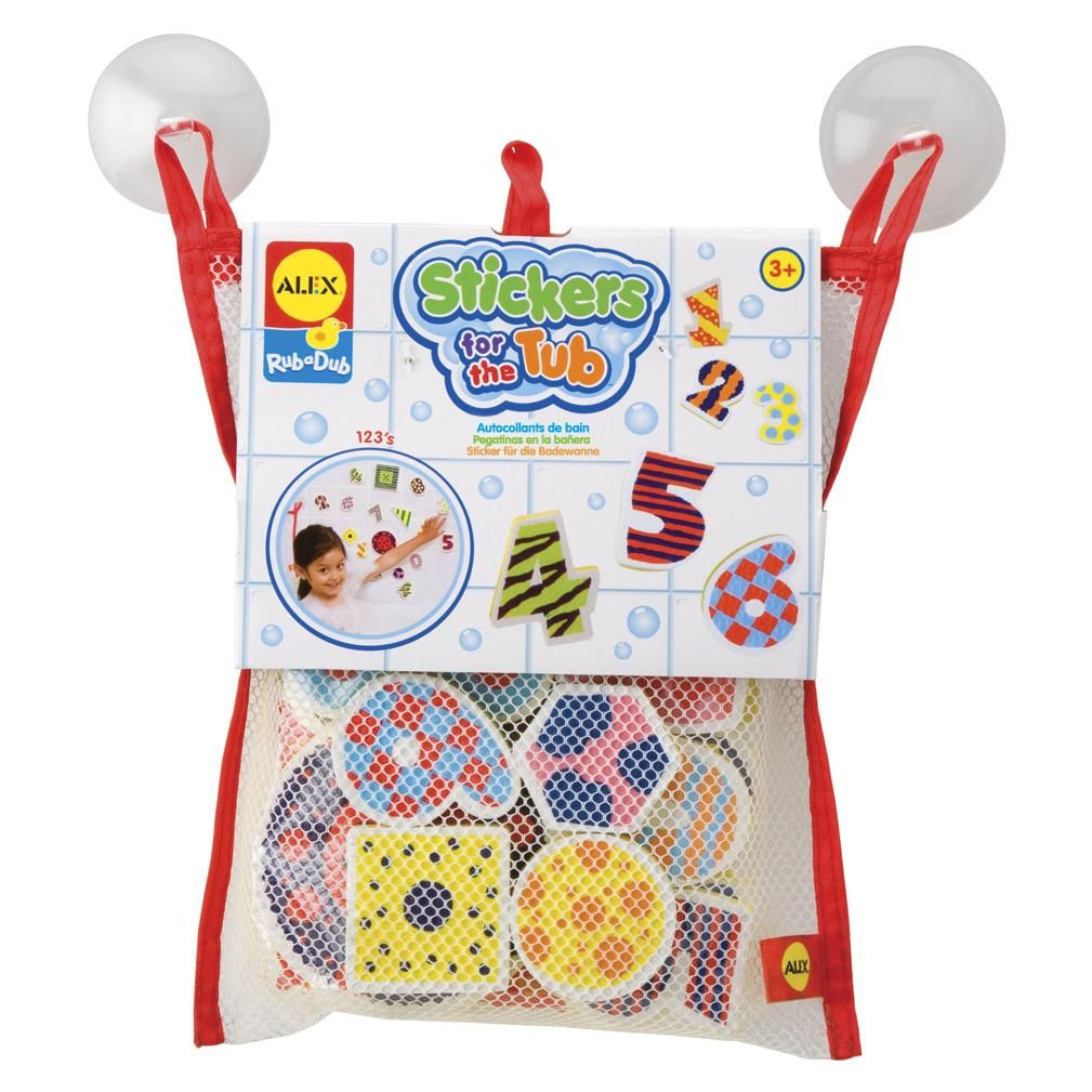 ALEX Toys Rub a Dub Stickers for the Tub Numbers & Shapes   Number ...