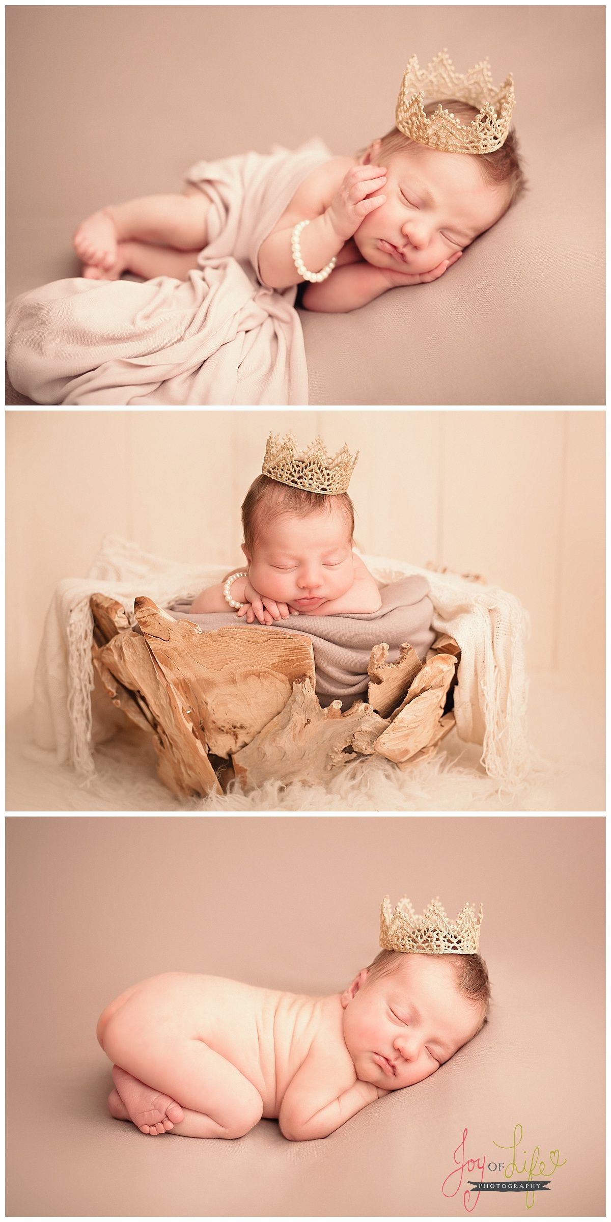 girl pearl photo swaddle gold crown circle newborn and baby xove from collection with flower pin the