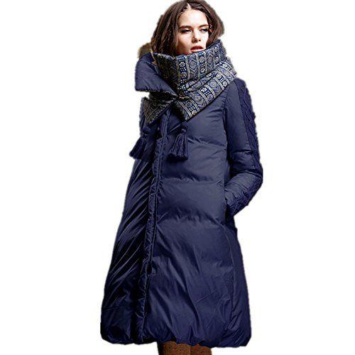Damen lange winter jacke