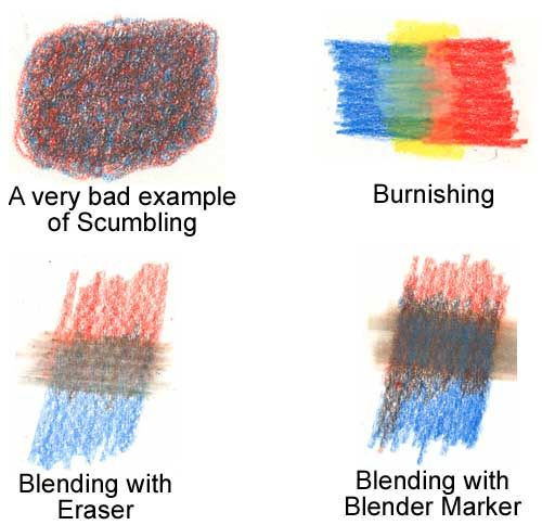 Blending techniques for Colored Pencils - interesting message board ...