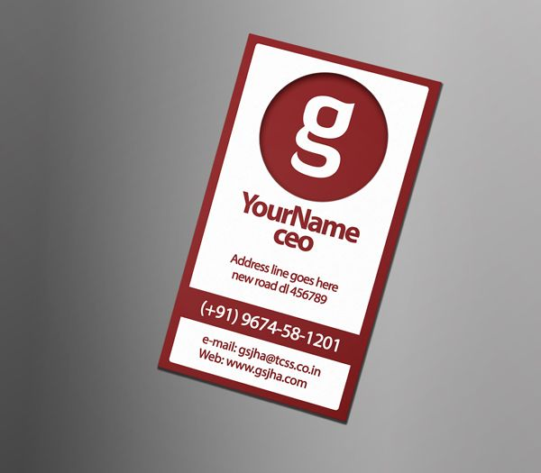 Download Dark Red Business Card Photoshop Template For