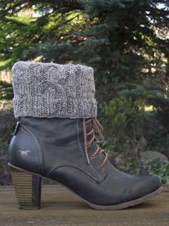 Photo of Magie aus Wolle, Garn und Faden: BOOT CUFFS / Stiefelwärmer
