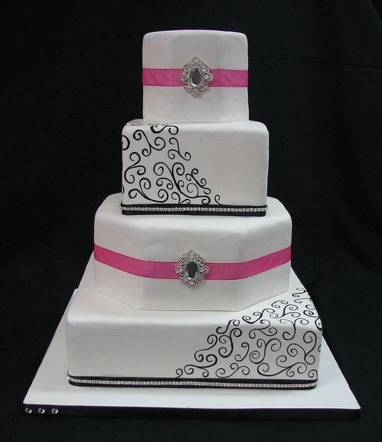 Bling Wedding Cakes, Pink Bling