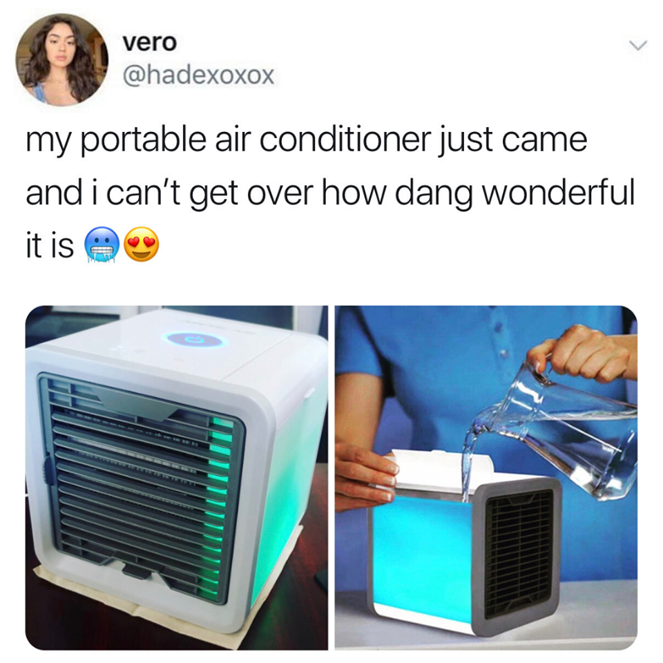 This portable air conditioner is perfect for hot summer