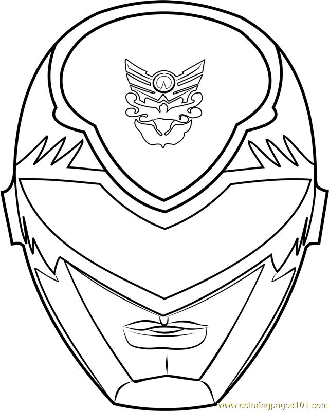Power Ranger Mask Coloring Page Brantley