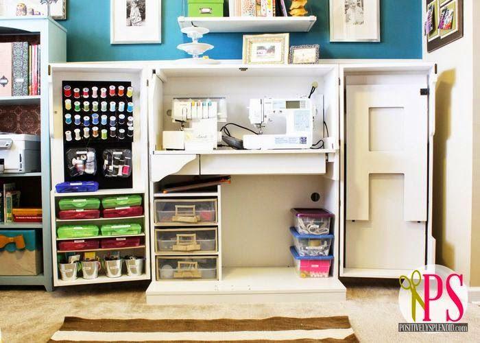 Rinc n de costura en un armario craft sewing closet for Ideas para organizar armarios