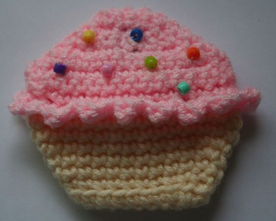 Cupcake Coin Purse CROCHET PATTERN by HipChickCrochet on Etsy ...