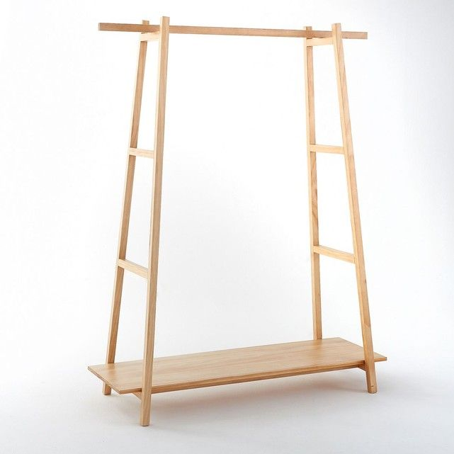 perchero the h design madera natural con repisa - Perchero De Madera