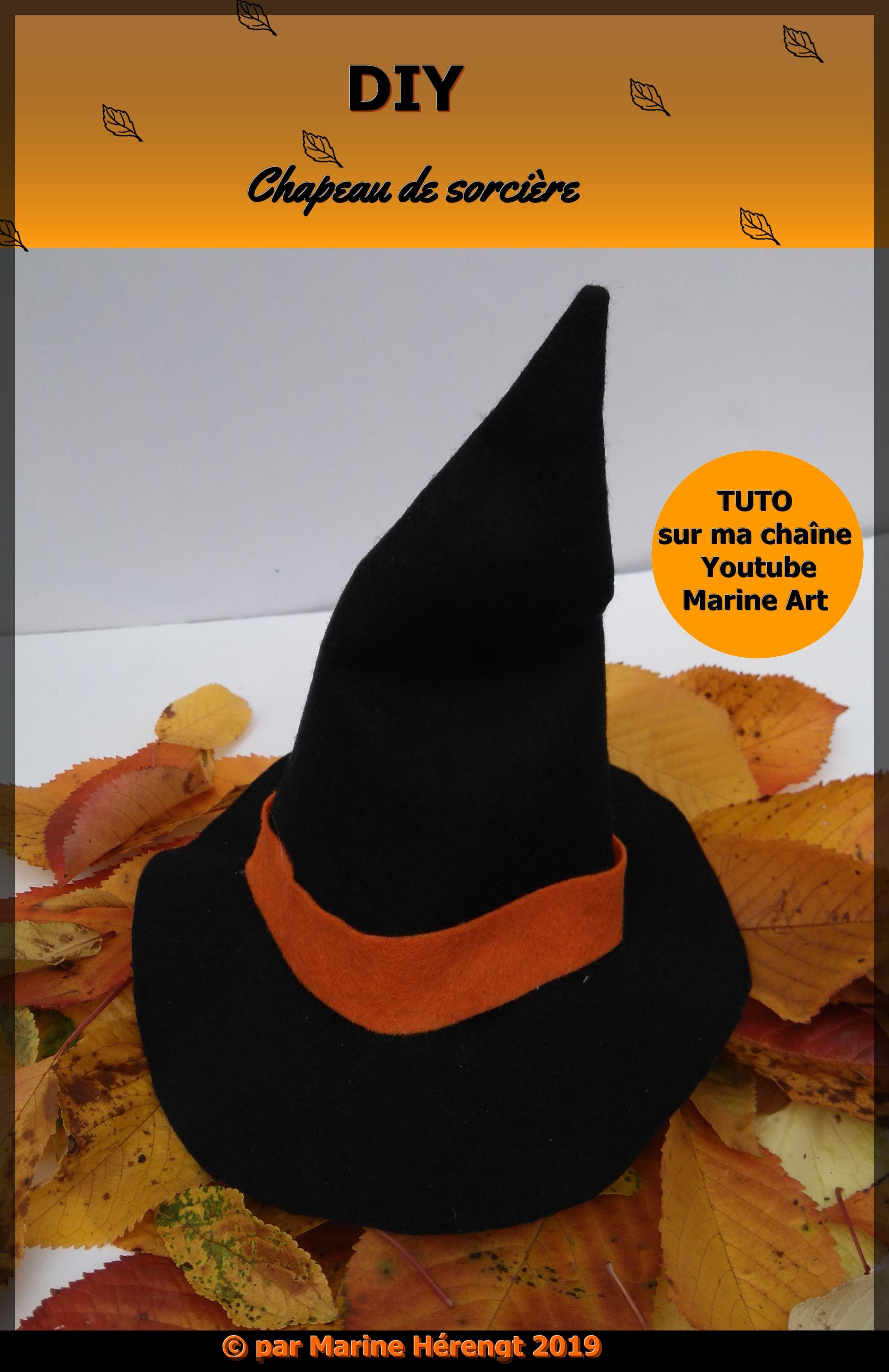 DIY petit chapeau de sorcière en feutrine. Le tuto est