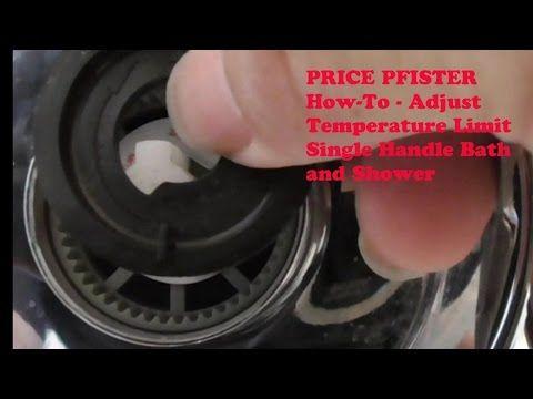 price pfister how to adjust temperature