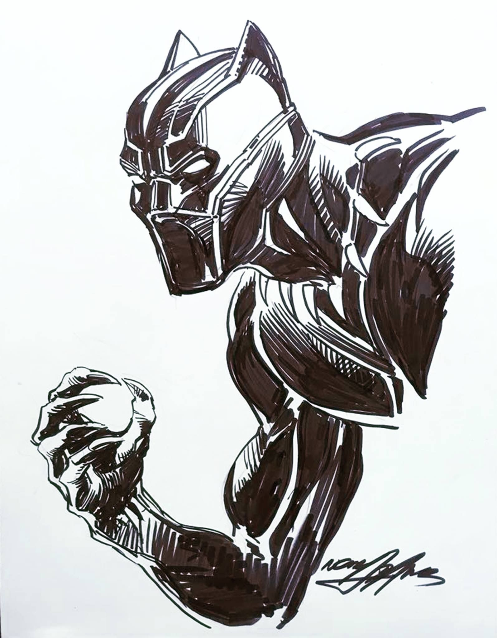Black Panther Neal Adams Convention Sketch 2018 Avengers Drawings Black Panther Marvel Black Panther Art