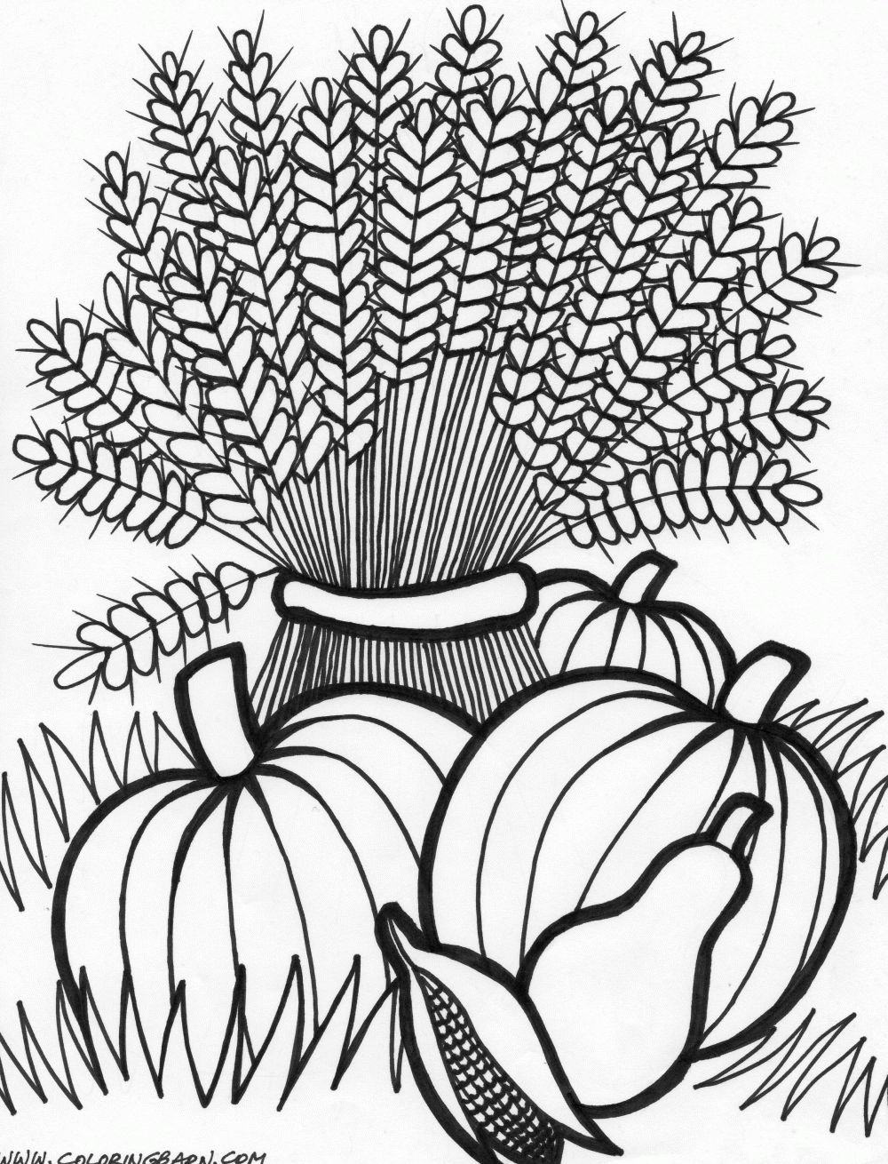 thanksgiving wheat coloring