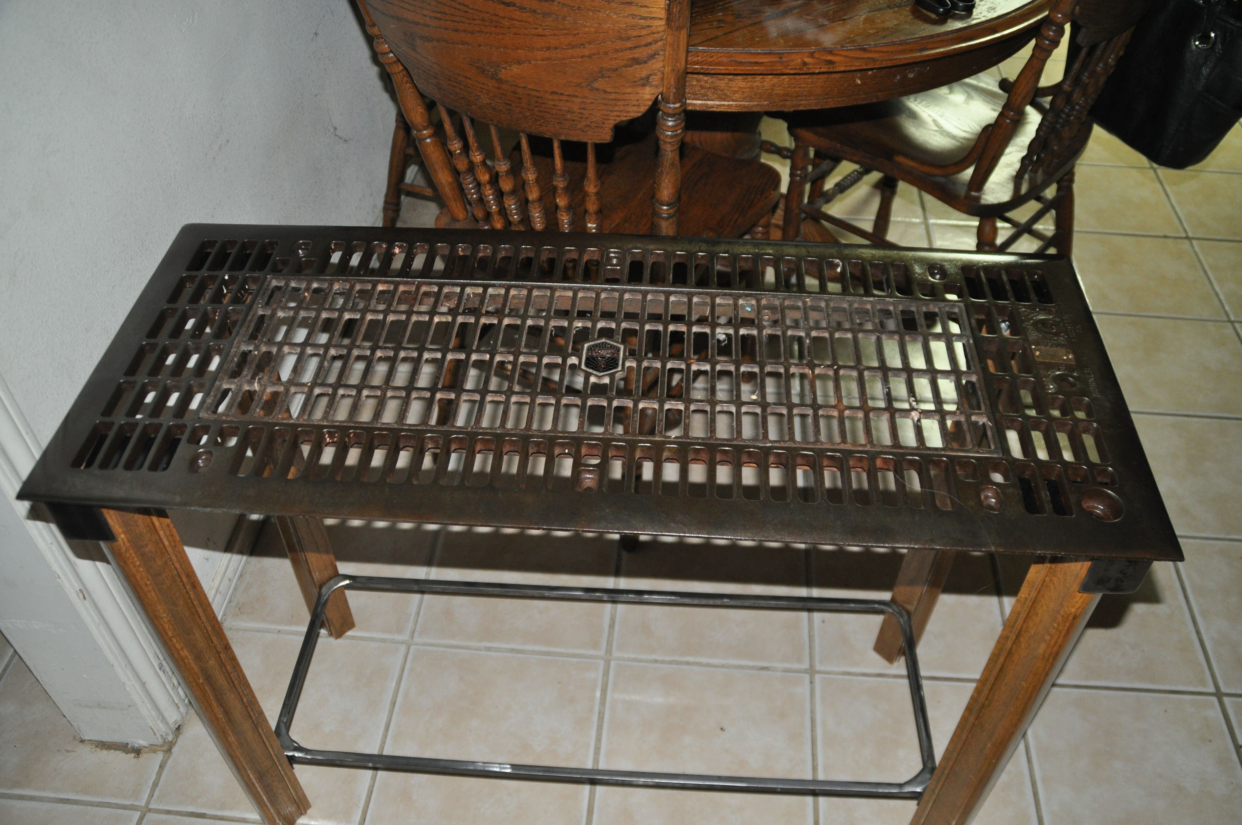 Old Floor Furnace Grate