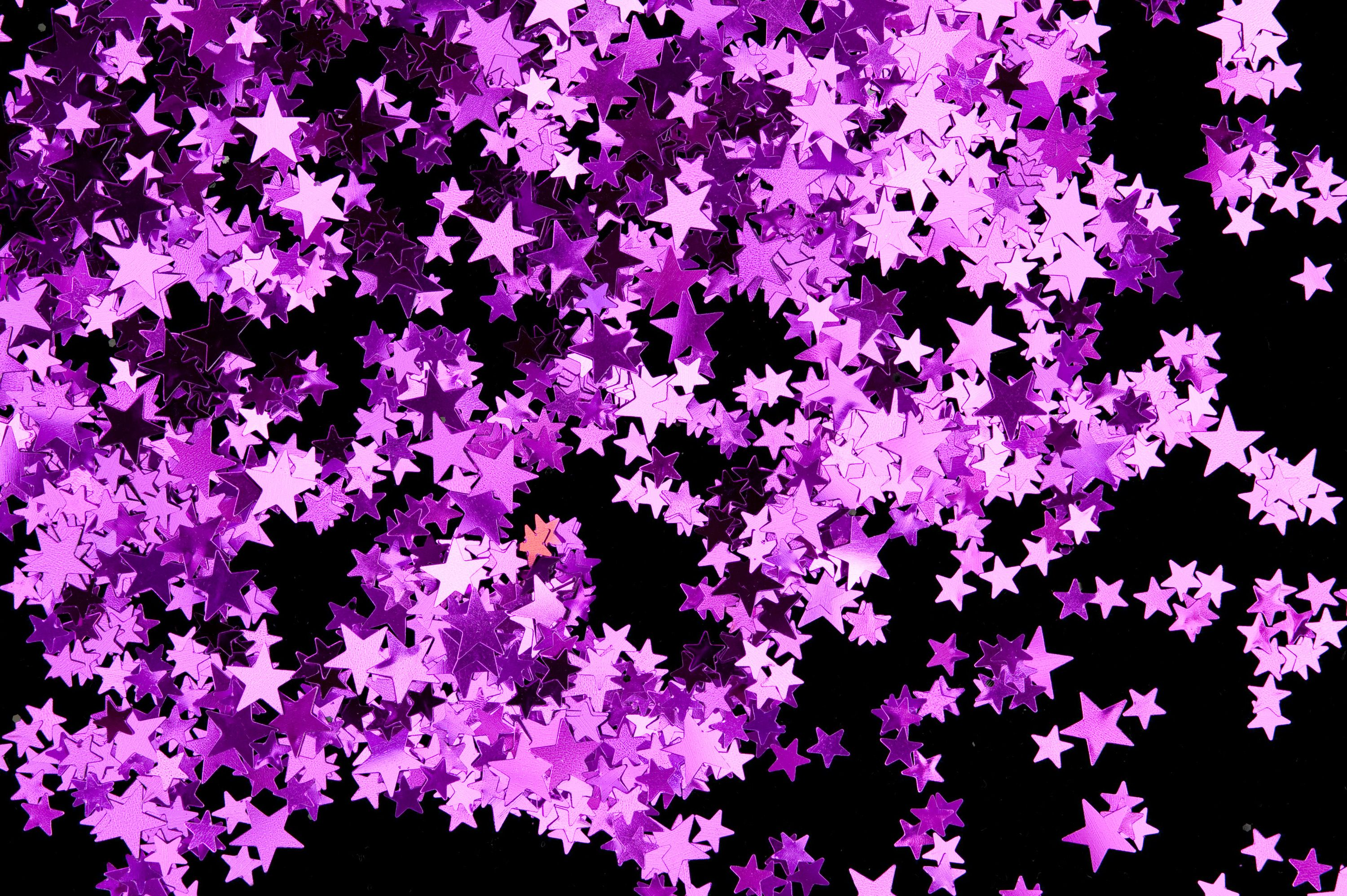 black and purple star glitter | Shiny Makes Everything ...