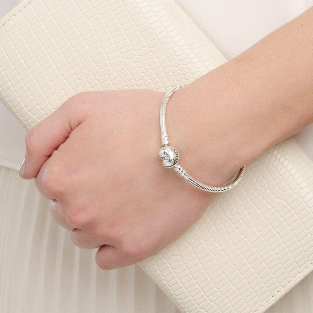 216982573fc Moments Silver Bracelet with Heart Clasp | Jewellery | Bracelets ...