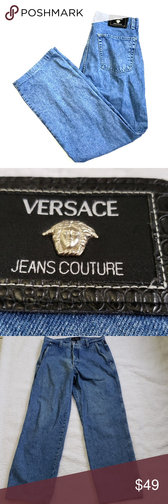 Versace Mom Jeans Couture Ittierre 34 48 Vtg Versace Jeans Couture Versace Vintage Versace