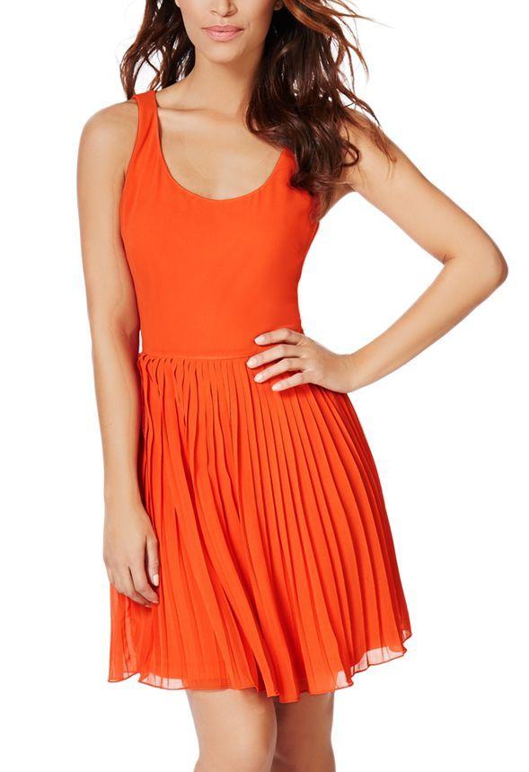 Pleated Dress - JustFab