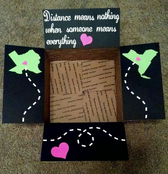 Christmas Gift Ideas For Long Distance Boyfriend: Care Package Box Kit Distance Means Nothing When By