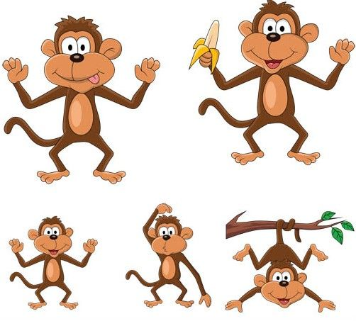 funny monkey free clip art free set of cartoon funny. Black Bedroom Furniture Sets. Home Design Ideas