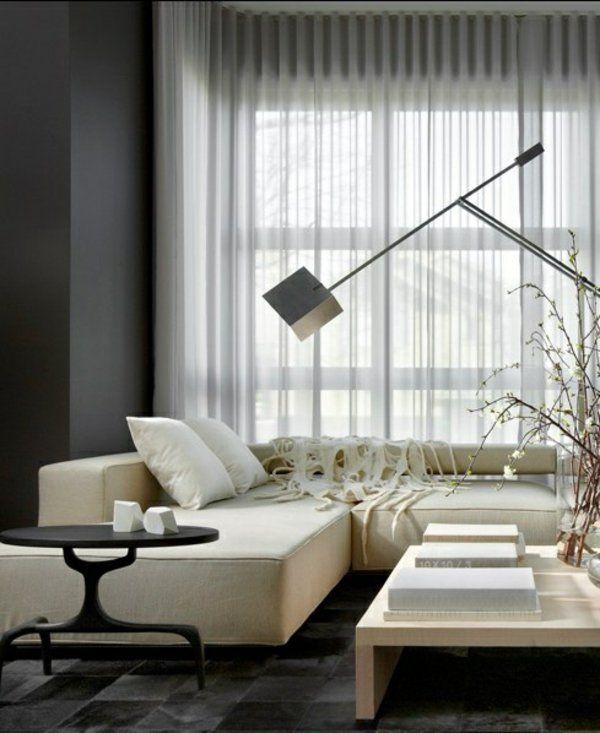 moderne vorh nge bringen das gewisse etwas in ihren wohnraum moderne vorh nge transparente. Black Bedroom Furniture Sets. Home Design Ideas