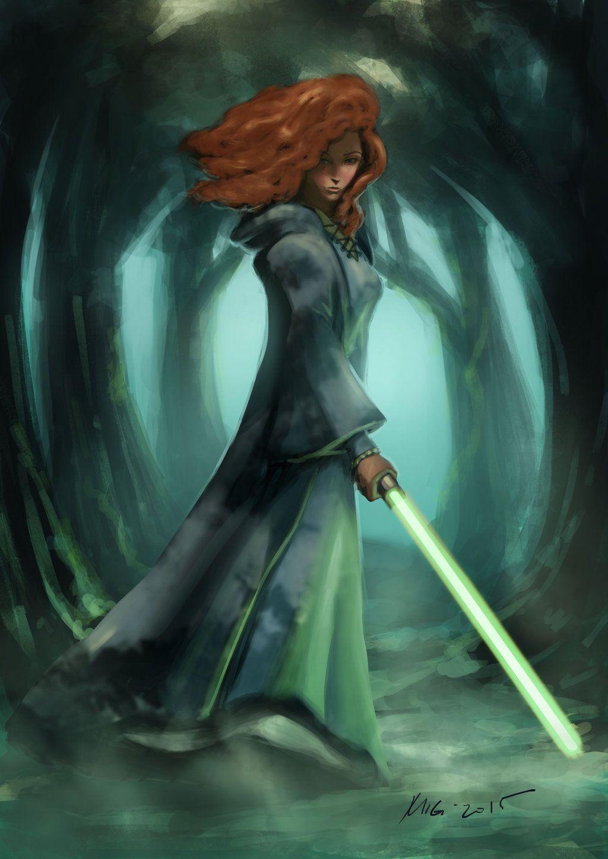 Princess Merida Jedi Master